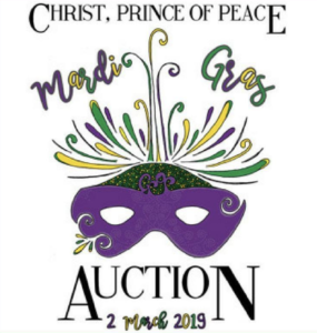 Save The Date! The Christ, Prince of Peace Parish Auction will take place on March 2, 2019 at 6:30pm at the Doubletree Hilton Hotel in Chesterfield, MO.